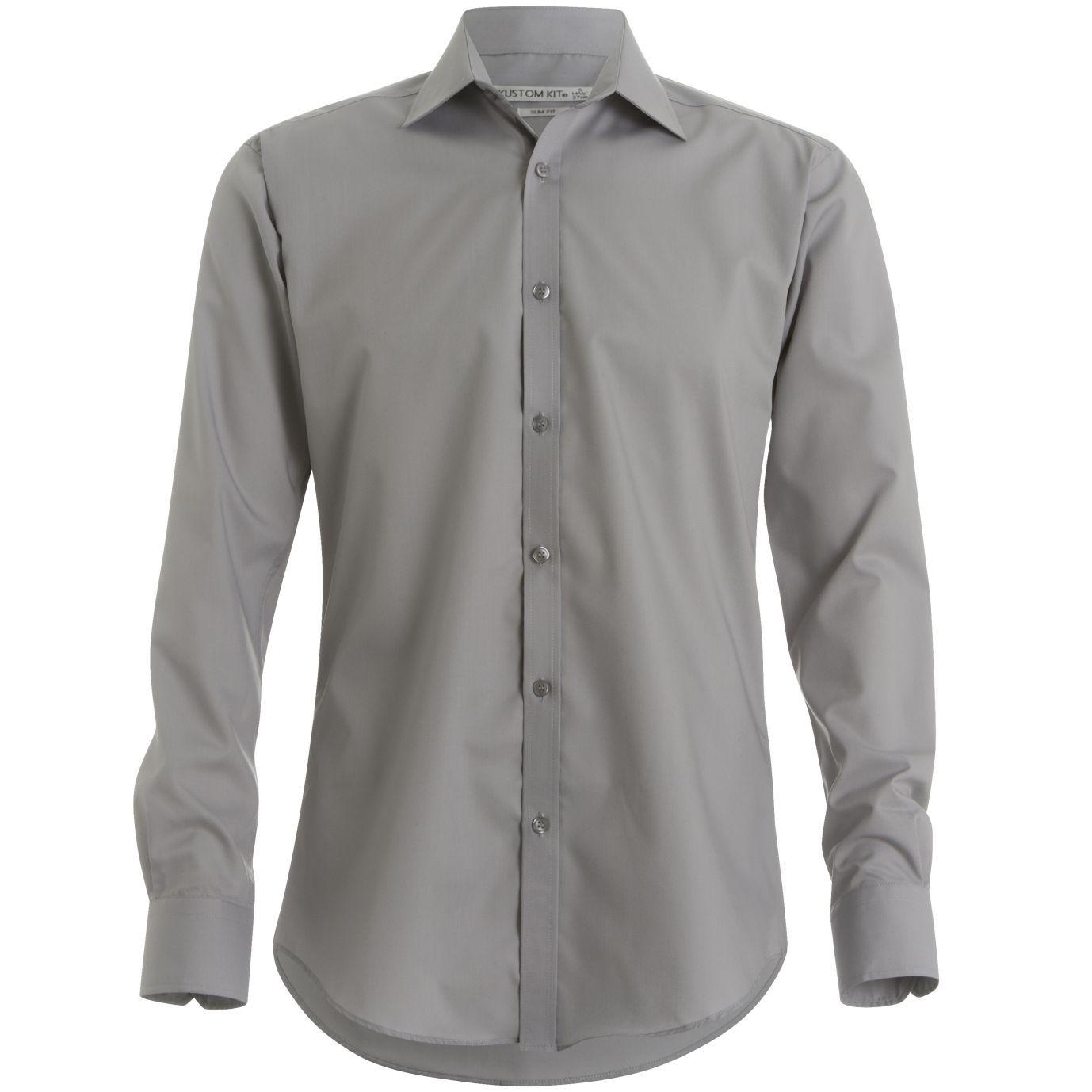 kustom kit slim fit business shirt long sleeve kk192