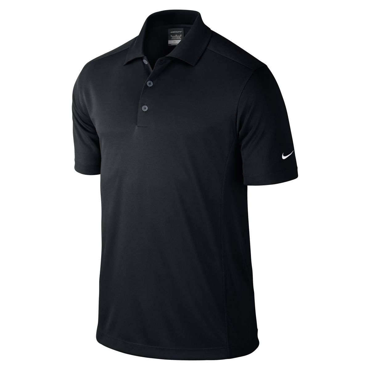 Nike men 39 s dri fit polo shirt nk215 for Black fitted polo shirt