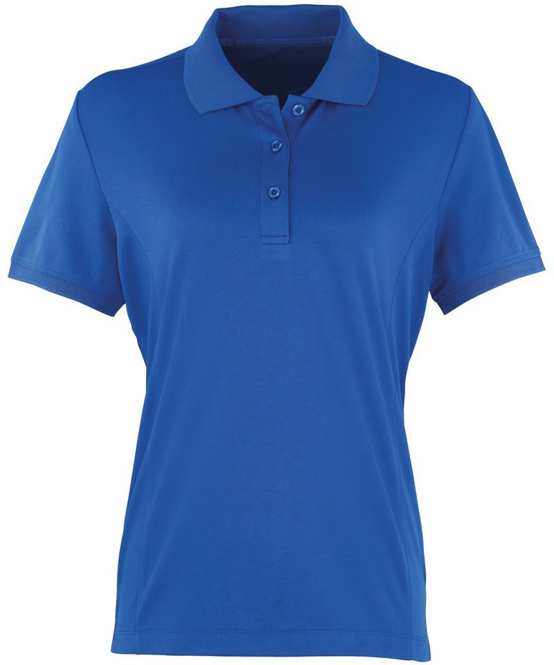 Premier women 39 s coolchecker fitted pique polo shirt pr616 for Ladies pique polo shirts