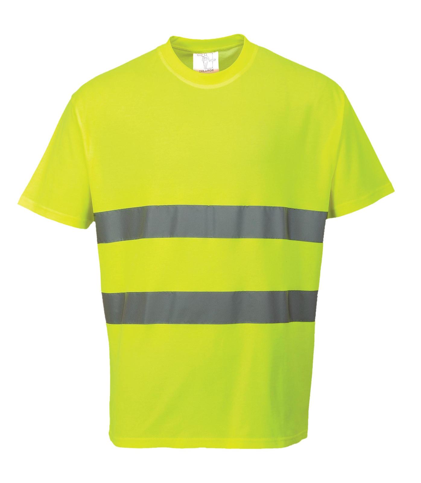 Portwest cotton comfort breathable high visibility t shirt for Hi vis t shirts cotton