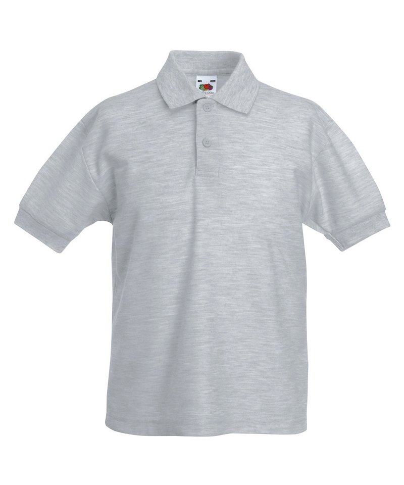 Fruit Of The Loom Childrens Long Sleeve 6535 Pique Polo