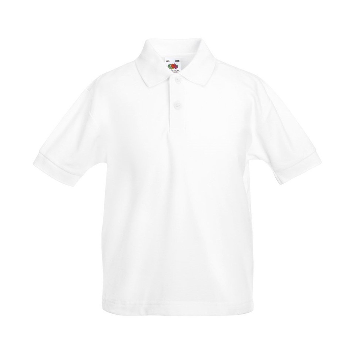 Fruit of the Loom childs 65//35 pique polo shirt Red 12 to 13