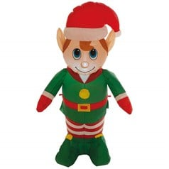 Christmas Shop 1.2m Inflatable Elf Character