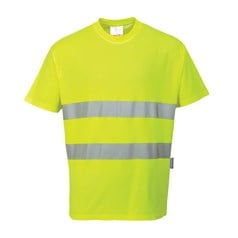 Portwest Cotton Comfort Breathable High Visibility T-Shirt