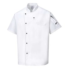 Portwest Cardiff Unisex Short Sleeve Chefs Jacket