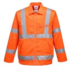 Portwest High Visibility Rail Industry Poly-Cotton Jacket