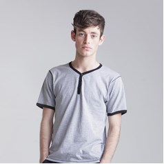 SF Men Short Sleeve Button T-Shirt