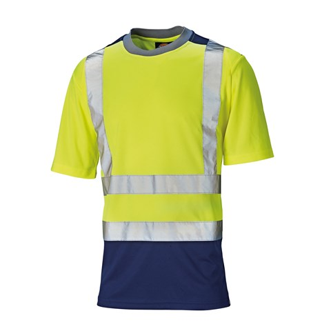 20d34b4eeb0f Dickies Men s High Visibility Two-Tone Crew Neck T-Shirt WD064