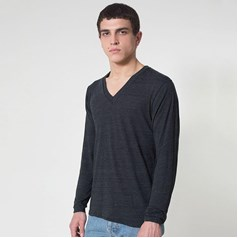 American Apparel Unisex Tri-Blend Long Sleeve V-Neck Top (TR476)