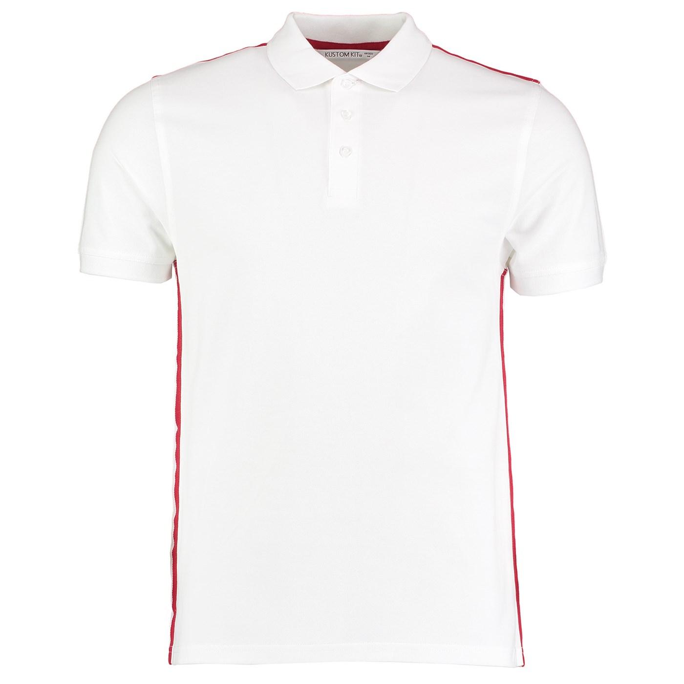 d7fb0426 Kustom Kit Men's Team Style Slim Fit Polo Shirt KK603