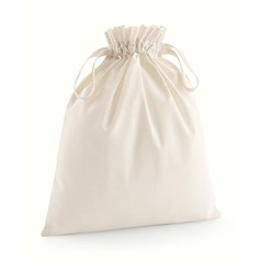 Westford Mill Organic Cotton Self Fabric Drawcord Bag