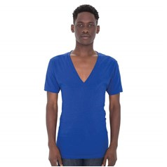 American Apparel Unisex Sheer Jersey Deep V-Neck T-Shirt (6456)