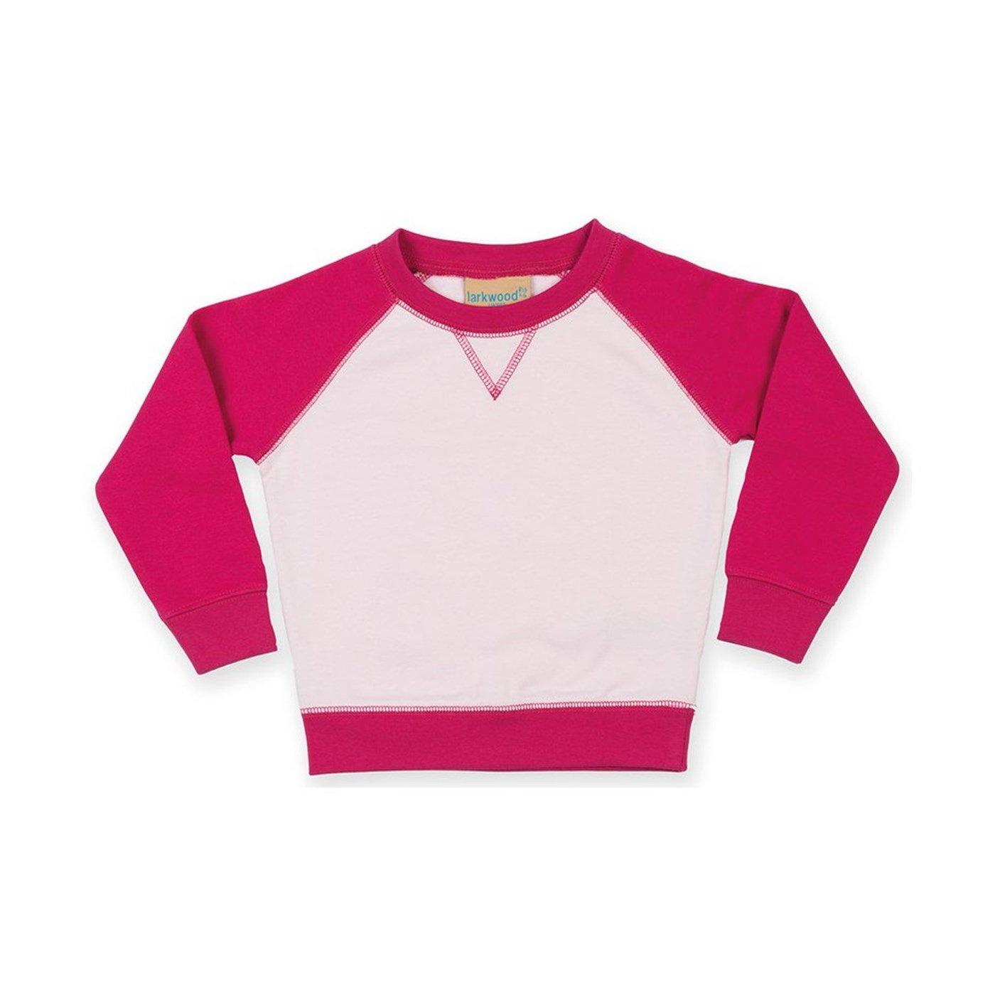 4669e4e5 Larkwood Toddlers Contrast Raglan Sleeve Sweatshirt LW04T