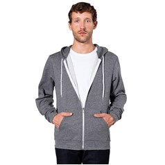 American Apparel Unisex Salt and Pepper Full Zip Hoodie (MT497)