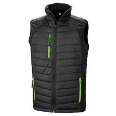 Result Unisex Black Compass Padded Softshell Gilet
