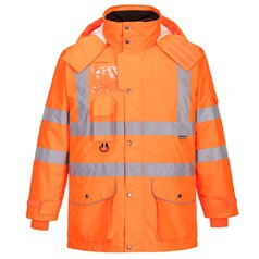 Portwest Abrasion Resistant Rail Industry Hi-Vis 7-in-1 Jacket