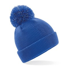 Beechfield Junior Reflective Bobble Beanie Hat