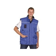 SuperTouch Reflective Visibility Body Warmer in Blue