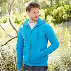 Fruit of the Loom Mens Zip Through Hooded Sweat Shirt