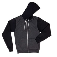 American Apparel Unisex Two Tone Flex Fleece Full Zip Hoodie