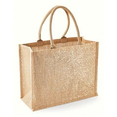 Westford Mill Shimmer Jute Shopper Bag