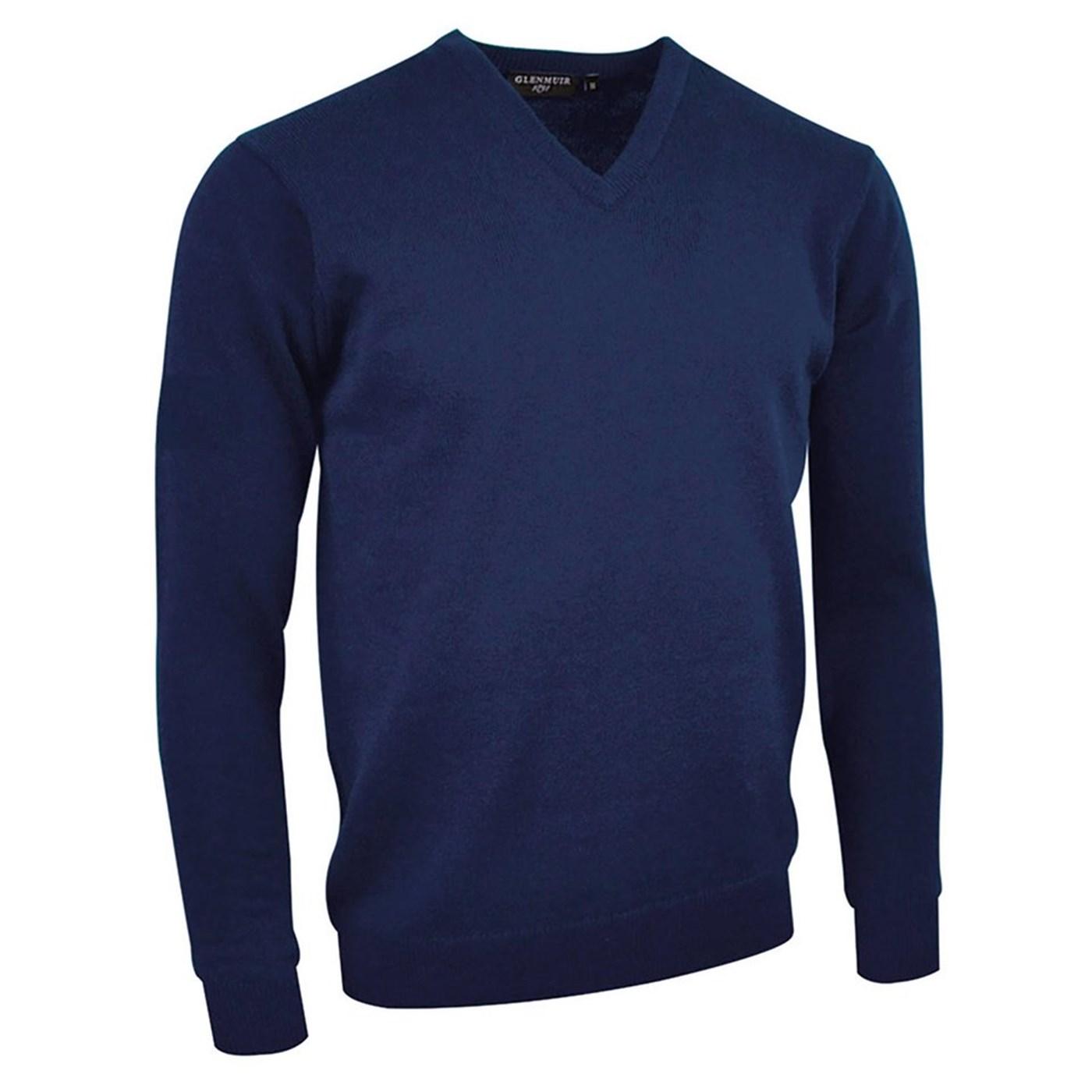 MKL5900VN-LOM Glenmuir G.Lomond Men/'s Lambswool V-neck Sweater