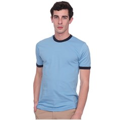 American Apparel Ringer Short Sleeved Fine Jersey T Shirt