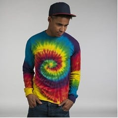 Colourtone Tie Dyed Long Sleeve T-Shirt