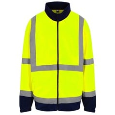 High visibility full-zip fleece