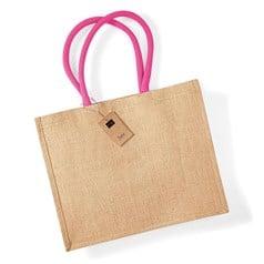 Westford Mill Coloured Handle Classic Jute Shopper Bag