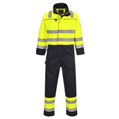 Portwest BizFlame Multi Flame/Chemical Resistant Hi Vis Coverall