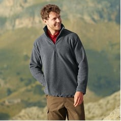 Fruit of the Loom Adults Unisex Half Zip Fleece Jacket