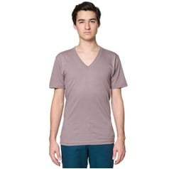 American Apparel Organic Short Sleeve V-Neck T-Shirt