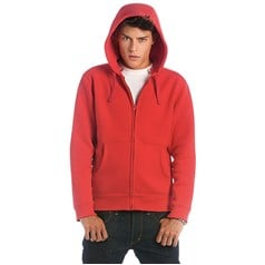 B&C Collection Full Zip Hooded Sweatshirt