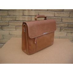 Woodland Leather Hide Leather Briefcase