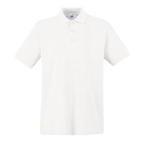 Mens Polo Shirts Fruit of the Loom PREMIUM Polo 100/% Cotton Polo Shirt SS255