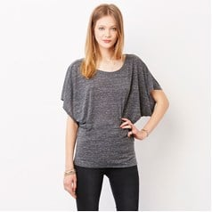 Bella Canvas Ladies Flowy Draped Sleeve Dolman T-Shirt