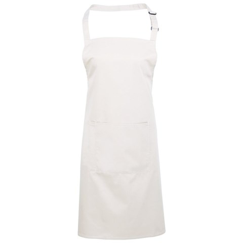Colours bip apron with pocket White