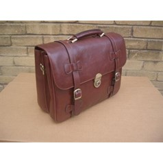 Woodland Leather Classic Retro Style Briefcase