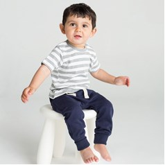 BabyBugz Baby Poppers at Shoulder Stripy T-Shirt