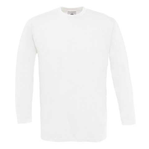 B&C Exact 150 long sleeve White*