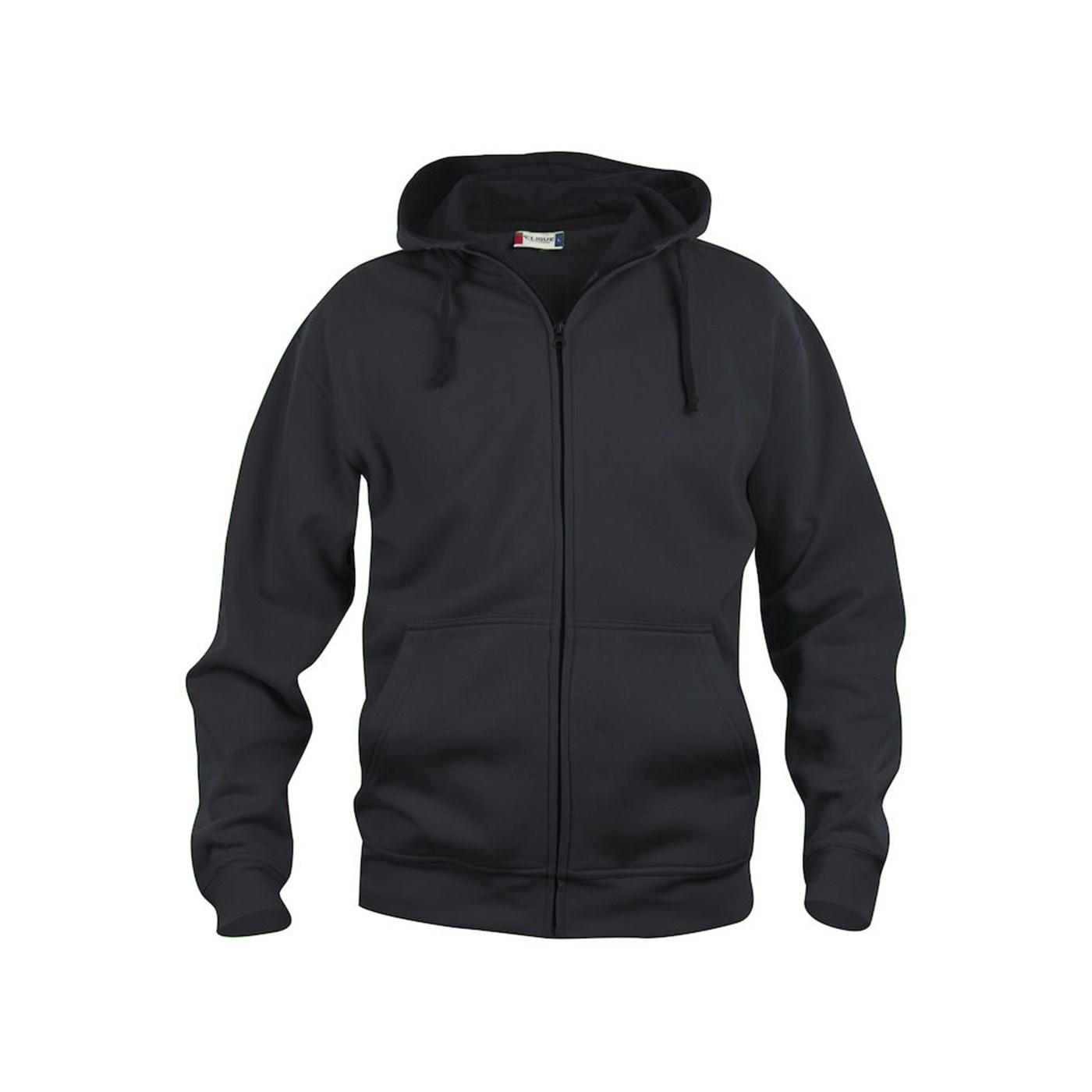 f15170af Clique Men's Basic Full Zip Hooded Sweatshirt