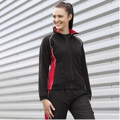 Finden Hales Ladies Piped Microfleece Jacket