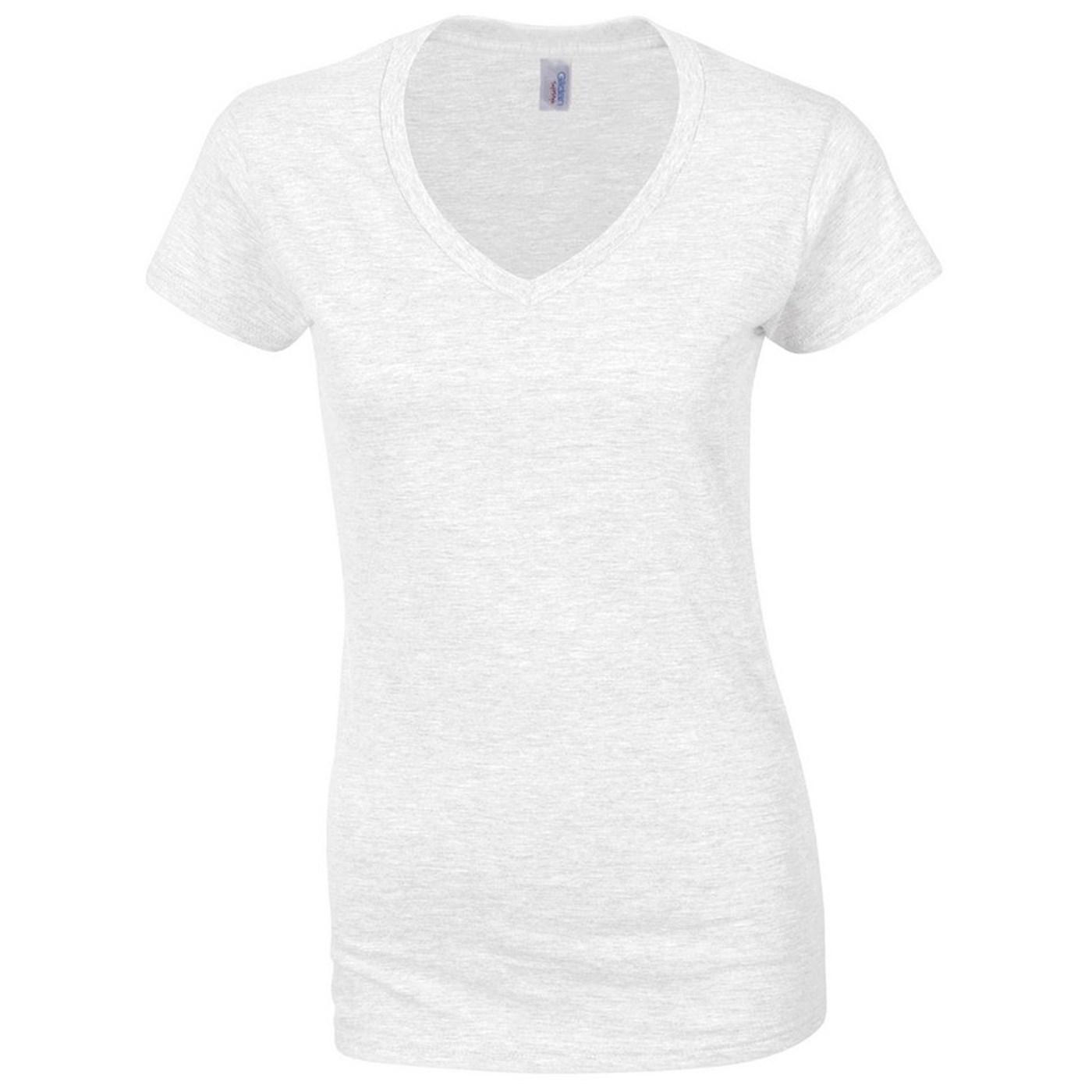 3fa4cdcb65b6 Gildan Ladies Softstyle V-Neck T-Shirt GD078