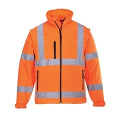 Portwest Water Repellant High Visibility Classic Softshell Jacket