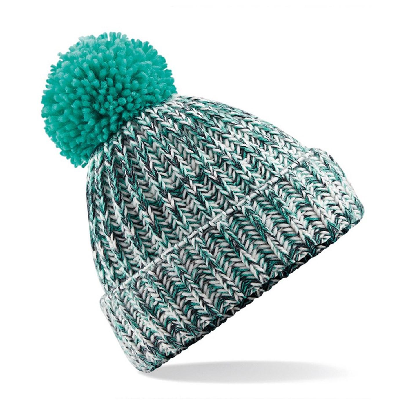 043884feafa Beechfield Adult s Chunky Twist-knit Pom Pom Beanie Hat