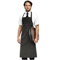 Premier Butchers Style Striped Bib Apron