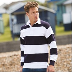 fa8bfc8dee1 ... Stripe Long Sleeved Rugby Shirt · Front Row Men