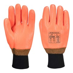 Portwest Double Dipped PVC Coated Weatherproof Hi Vis Glove