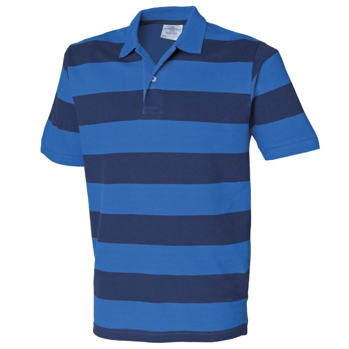 5dd4c1ab00c Front Row Men's Striped Pique Polo Shirt FR210